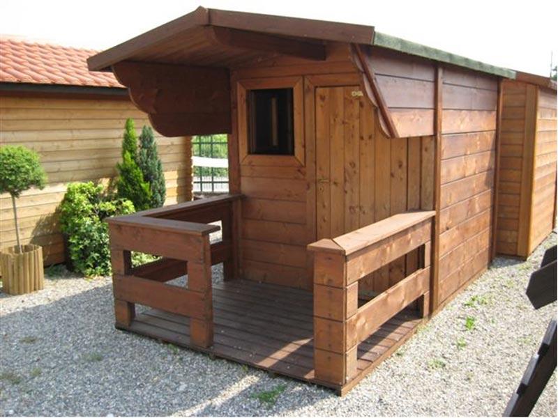 Casette porta attrezzi losa legnami for Garage con veranda