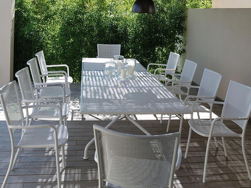 Mobili da giardino in ferro losa legnami for Set giardino legno
