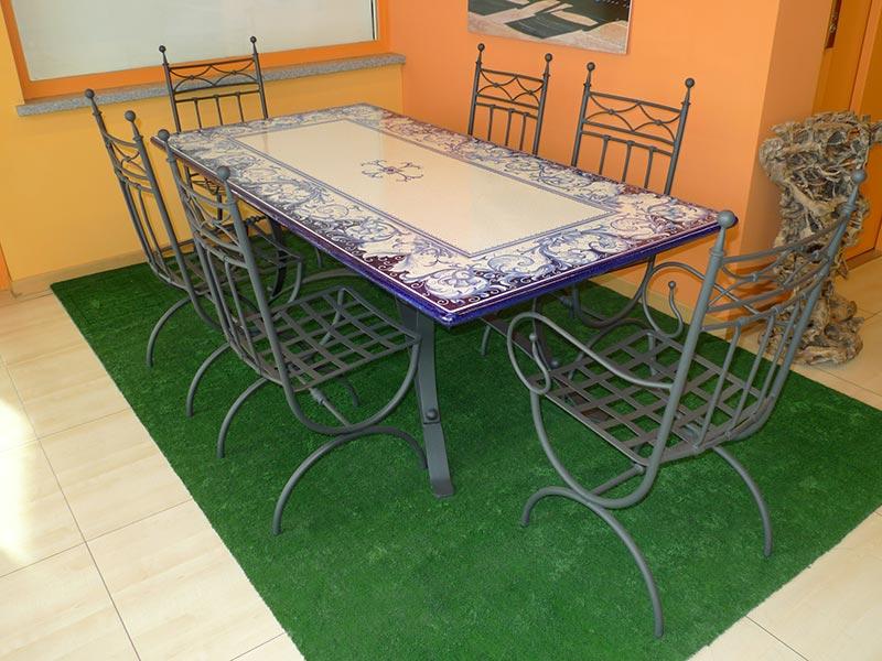 Tavoli In Maiolica Da Giardino.Mobili Da Giardino Losa Legnami